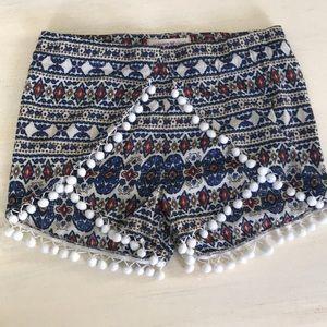 Altar'd State boho hippy pompom shorts